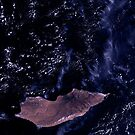 Socotra Island Yemen Arabian Sea Satellite Image by Jim Plaxco