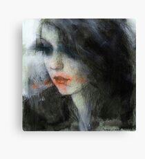 pensive girl Canvas Print