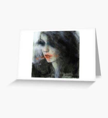 pensive girl Greeting Card