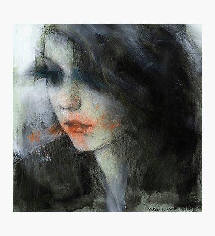 pensive girl Photographic Print