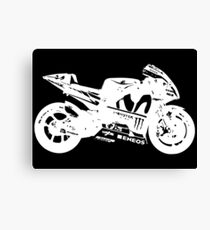 Yamaha YZR-M1 MotoGP Bike (White) Canvas Print