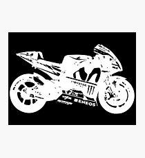 Yamaha YZR-M1 MotoGP Bike (White) Photographic Print