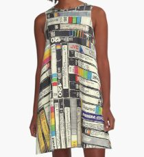 80´S VHS TAPES A-Line Dress