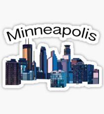 Minneapolis skyline Sticker