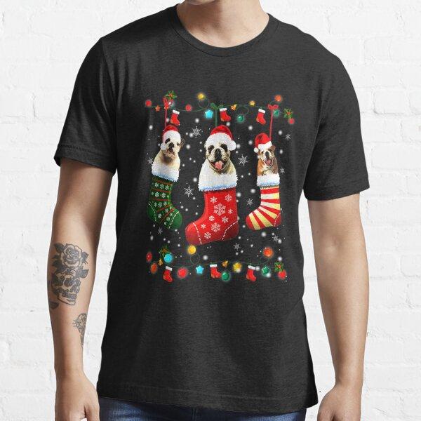 English Bulldog Socks Xmas Dog Essential T-Shirt