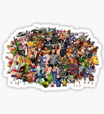 Amiga Game Characters Sticker
