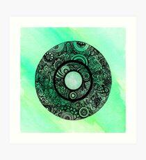Green with Envy Mandala Art Print