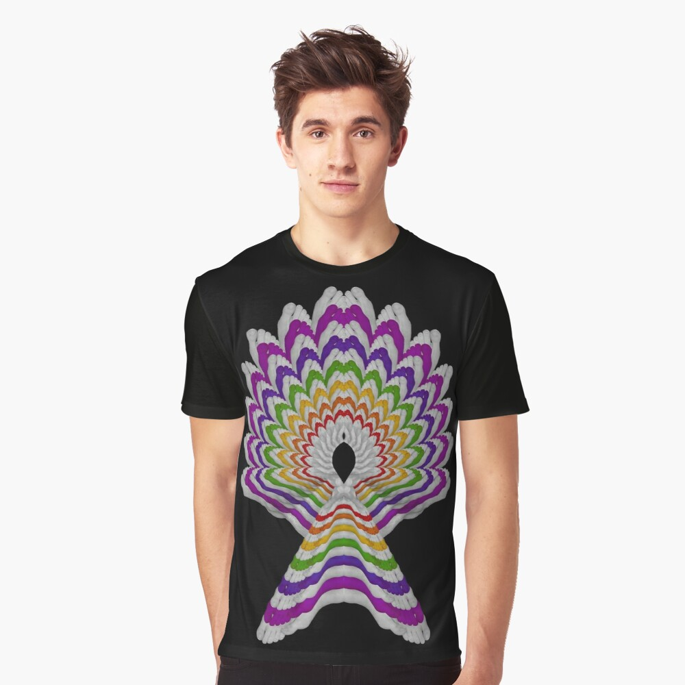 Rainbow Foot Fan Graphic T-Shirt Front