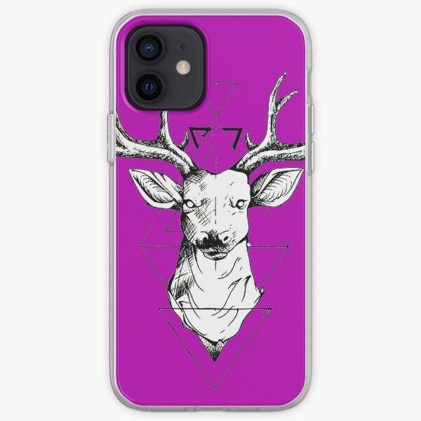 Geometric Deer iPhone Soft Case