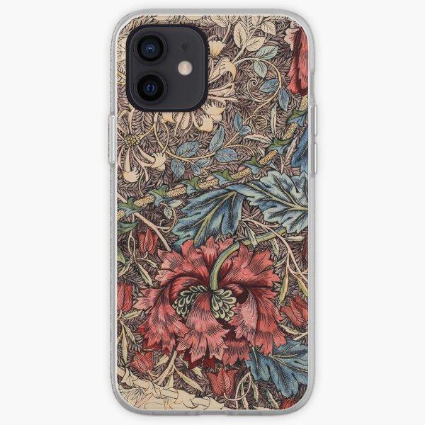 William Morris - Honeysuckle   Vintage Illustrations  iPhone Soft Case