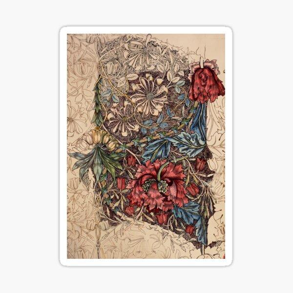 William Morris - Honeysuckle | Vintage Illustrations  Sticker