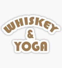 Whiskey & Yoga Sticker