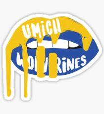 University of Michigan Lips Sticker