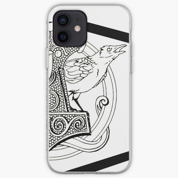 Huginn & Muninn & the Mjolnir iPhone Soft Case