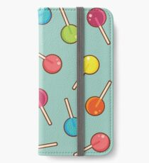Lollipop Pattern Blue iPhone Wallet/Case/Skin