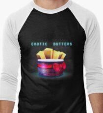 Exotische Butter Baseballshirt mit 3/4-Arm