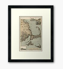 Vintage Map of Cape Cod (1885) Framed Print