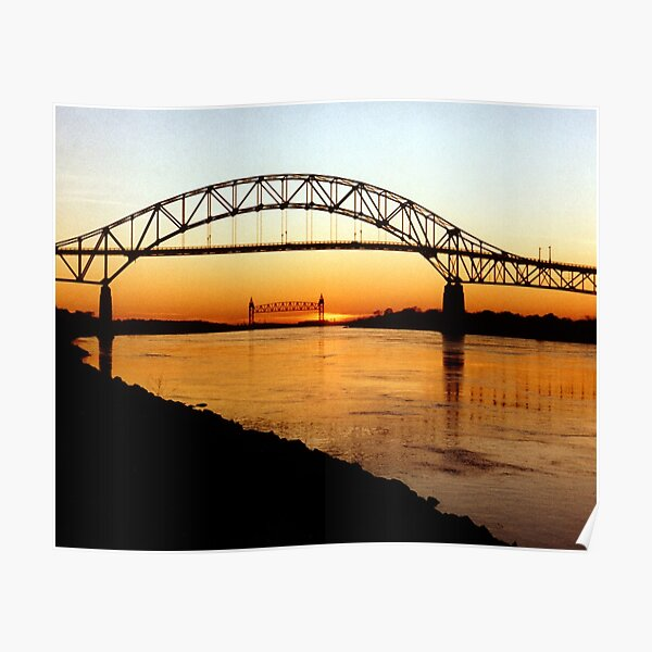 Cape Cod Bourne Bridge Poster