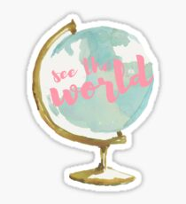 See the World Watercolor Globe Sticker