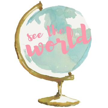 See the World Watercolor Globe by annmariestowe