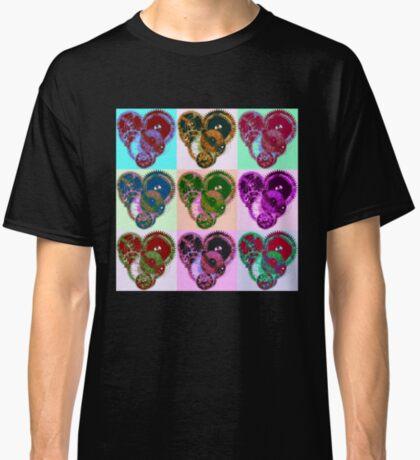 Steampunk 'Pop-Heart' Pop Art Classic T-Shirt