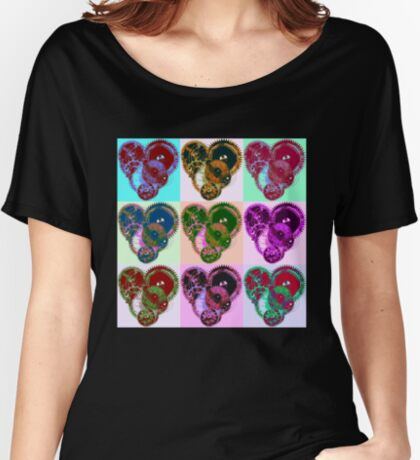 Steampunk 'Pop-Heart' Pop Art Relaxed Fit T-Shirt