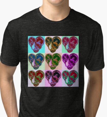 Steampunk 'Pop-Heart' Pop Art Tri-blend T-Shirt