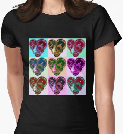 Steampunk 'Pop-Heart' Pop Art T-Shirt