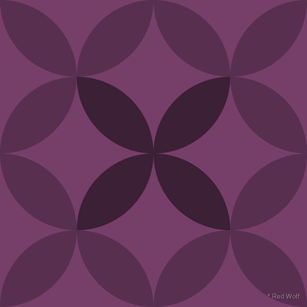 Geometric Pattern: Circle Nested: Aubergine by * Red Wolf