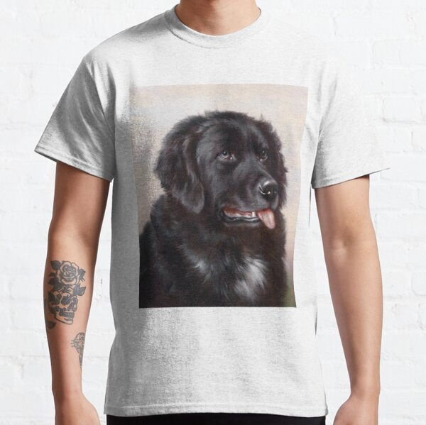Newfoundland Dog Portrait Classic T-Shirt