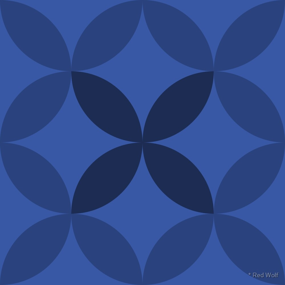 Geometric Pattern: Circle Nested: Azure by * Red Wolf