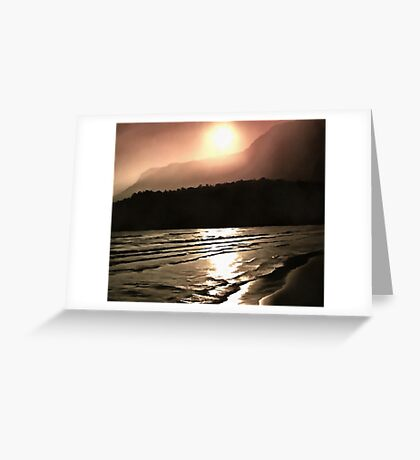Overwhelming Waves of Sadness Greeting Card