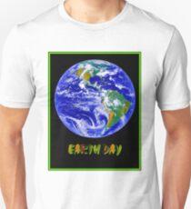 EARTH DAY; Advertising Print Unisex T-Shirt