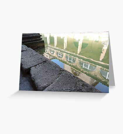 Reflected In Bath Greeting Card