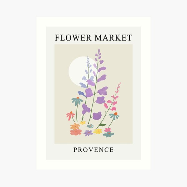 Flower market, French Provence  Art Print