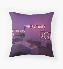 The 1975 The Sound, UGH, Somebody Else Neon Signs Throw Pillow