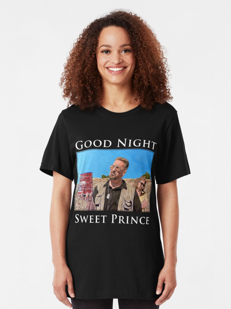 Alternate view of Good Night Sweet Prince Slim Fit T-Shirt