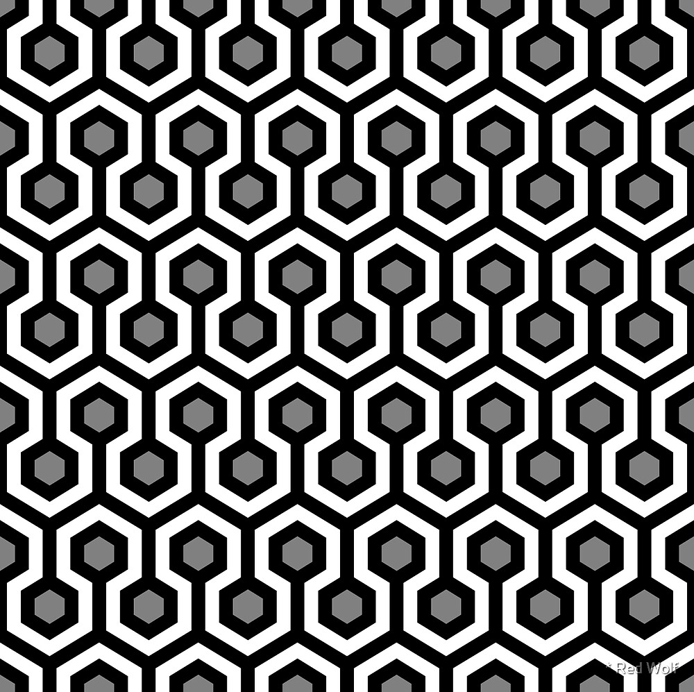 Geometric Pattern: Looped Hexagons: Kerry by * Red Wolf