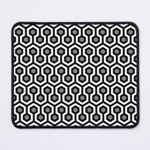 Geometric Pattern: Looped Hexagons: Kerry Mouse Pad