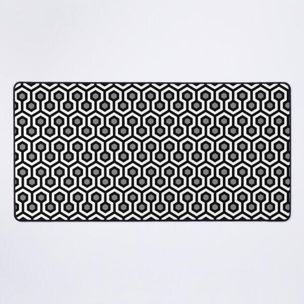 Geometric Pattern: Looped Hexagons: Kerry Desk Mat