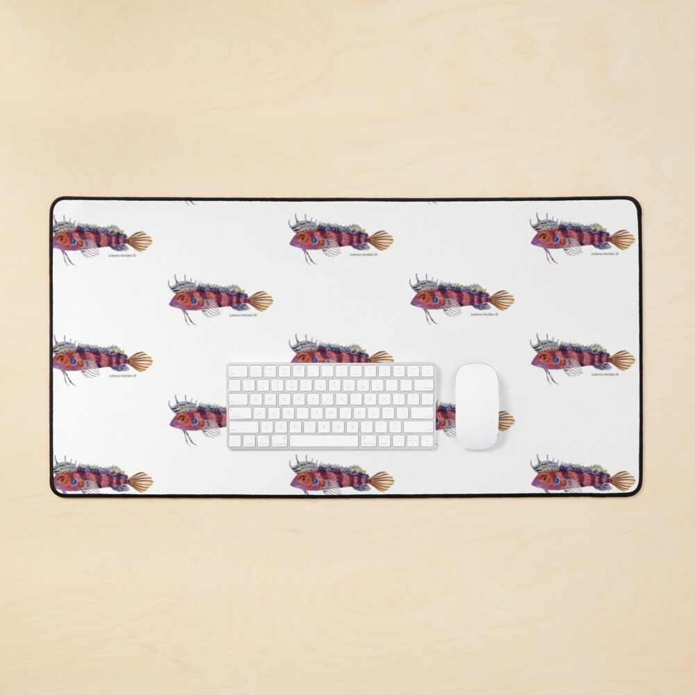 Quillfin Blenny Fish Mouse Pad