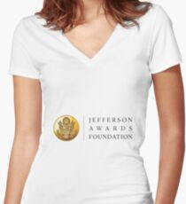 Medallion with Match Up Women's Fitted V-Neck T-Shirt