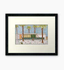 Palm Springs Mid-Century Modern Melon Door Framed Print