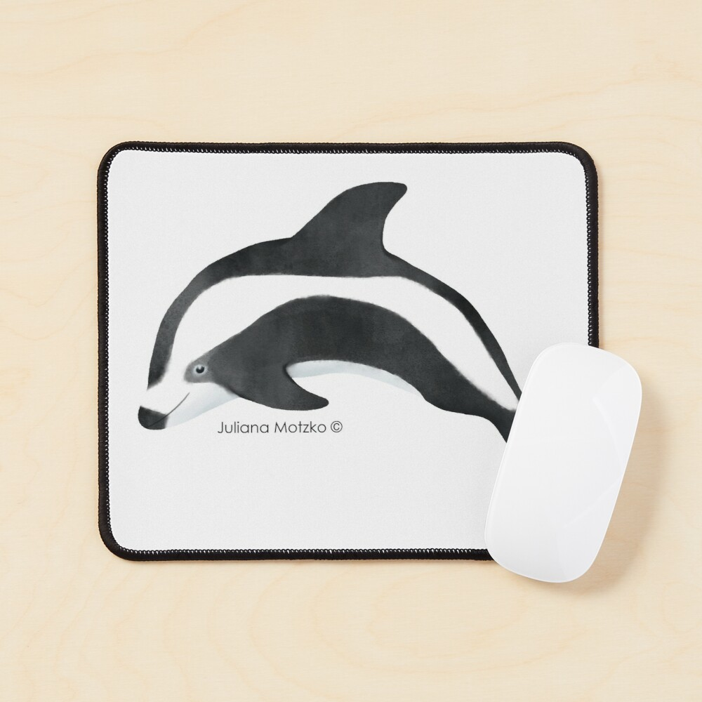 Hourglass Dolphin Mouse Pad