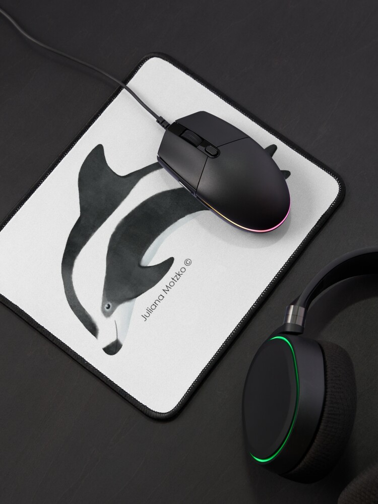 Alternate view of Hourglass Dolphin Mouse Pad