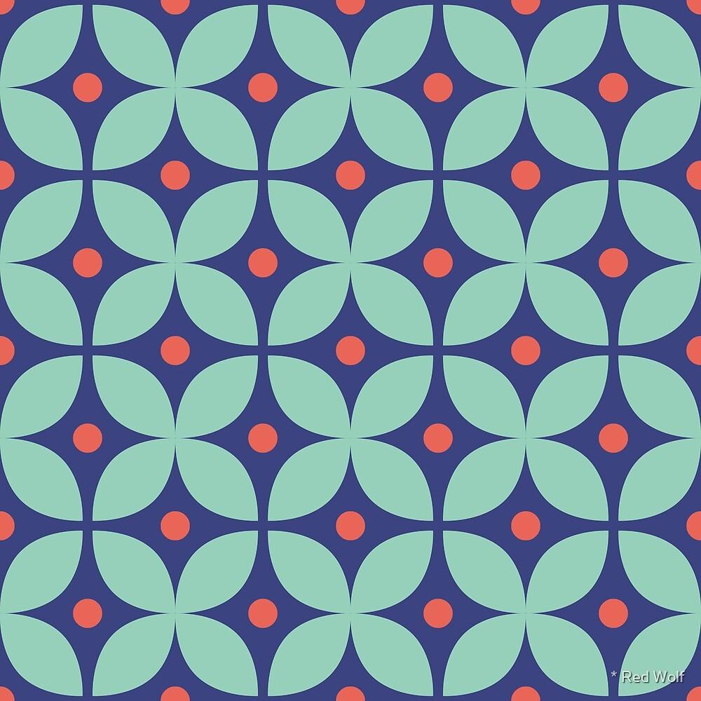 Geometric Pattern: Stylised Flower: Virginie by * Red Wolf