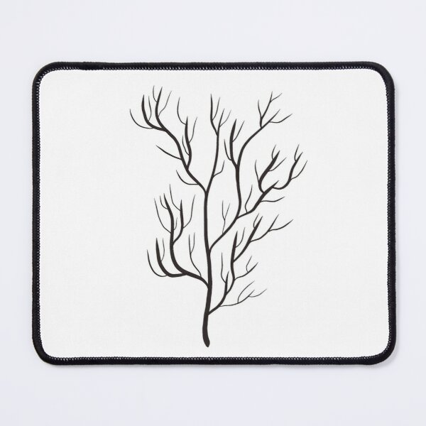 Tree Design | Japanese Inspired Black and White Design Mouse Pad