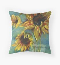 Sunflowers by Chris Brandley Throw Pillow