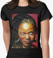 Lady with braids Womens Fitted T-Shirt