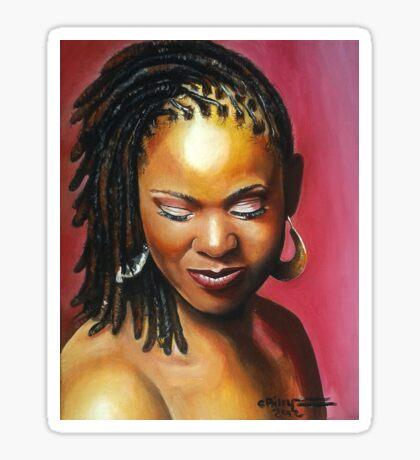 Lady with braids Sticker